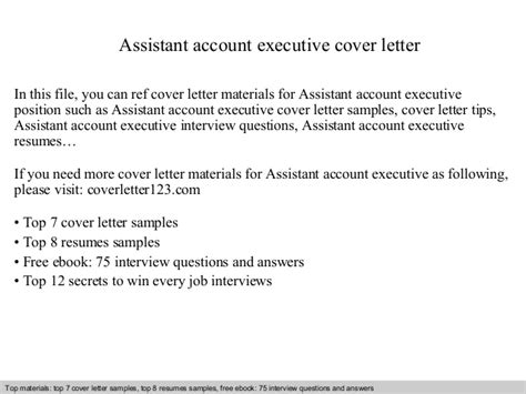 Assistant Account Executive Cover Letter by Assistant Account Executive Cover Letter