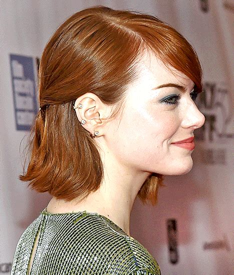 emma stone bob emma stone s bob hairstyle and accessory how to copy the