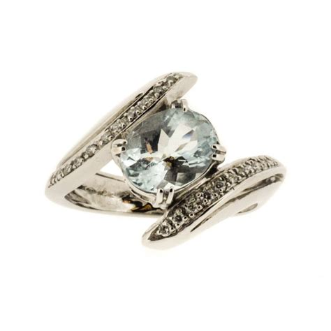 aquamarine crossover ring
