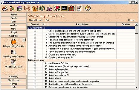 Wedding Organizer Review by Advanced Wedding Organizer 1 0 Review And