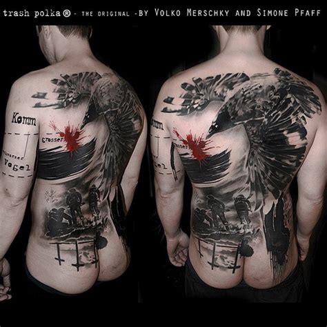 trash polka tattoos style miami trash polka back trash polka style