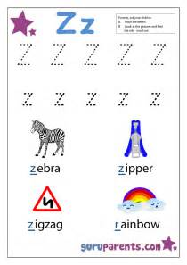 letter z worksheets guruparents