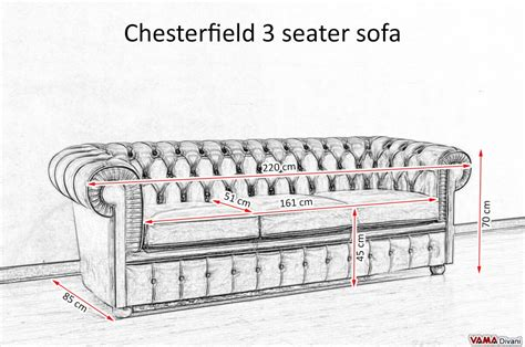 how long is a standard couch chesterfield 3 seater sofa price and dimensions