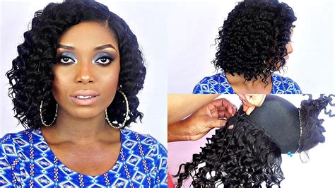 i nid pictures of short bob marley hair style how to make a short bob curly brazilian wig tutorial with