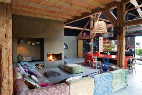 Interior Design For Farm Houses by Colorful Interior Design In Eclectic Style Turned Farm