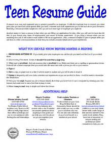 Resume Exles For Teenagers by 5 Resume For Sle Sle Resumes Sle