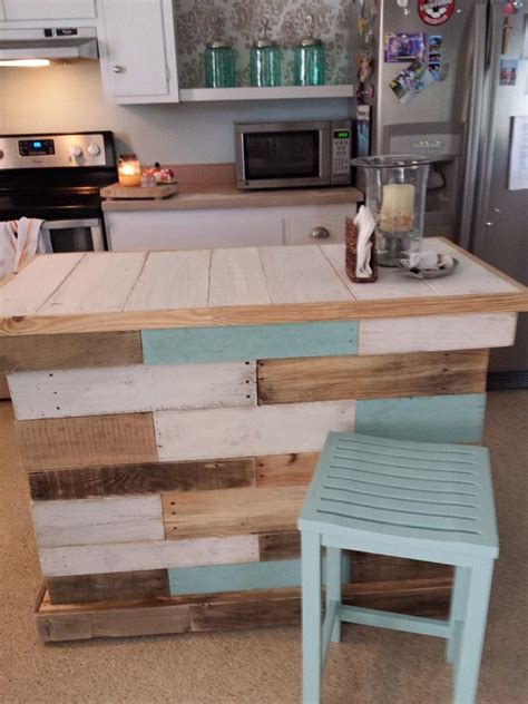best 25 pallet island ideas on pallet furniture kitchen island kitchen island made