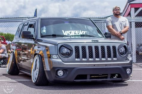 stanced jeep patriot slammed inc on quot stanced jeep sure photo by