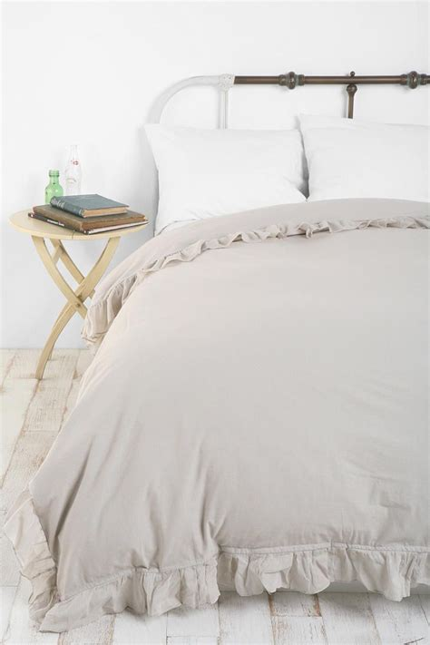 gray ruffle bedding solid edge ruffle duvet cover home decor pinterest