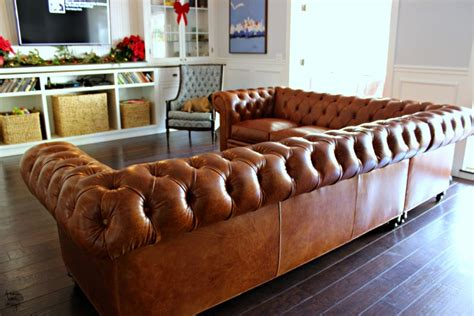 chesterfield sectional sofa our new leather chesterfield sectional sofa book