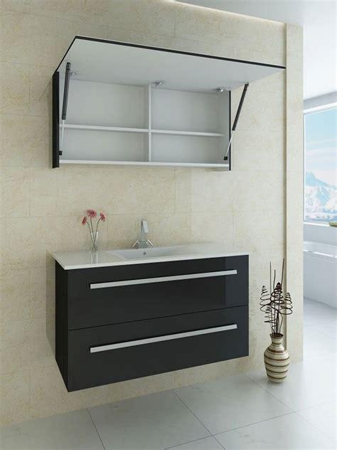 Bathroom Door Furniture Black Bath Furniture Set With Up Lift Door Mirror Cabinet Buy Bath Furniture Set Bathroom