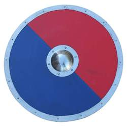 Key Home Decor Anglo Saxon Classic Red And Blue Ragnvar Viking Shield