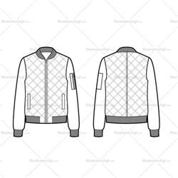 bomber jacket template quilted bomber jacket flat template illustrator stuff