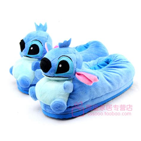 lilo and stitch slippers 2012 stitch plush slippers thickening thermal