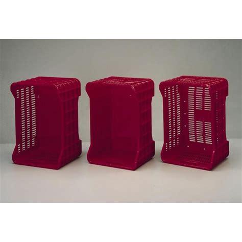 cassette ortofrutta cassette per ortofrutta colore rosso base e pareti piene