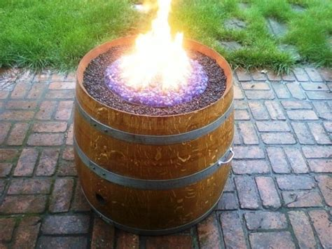 handmade propane wine barrel pit the great outdoors