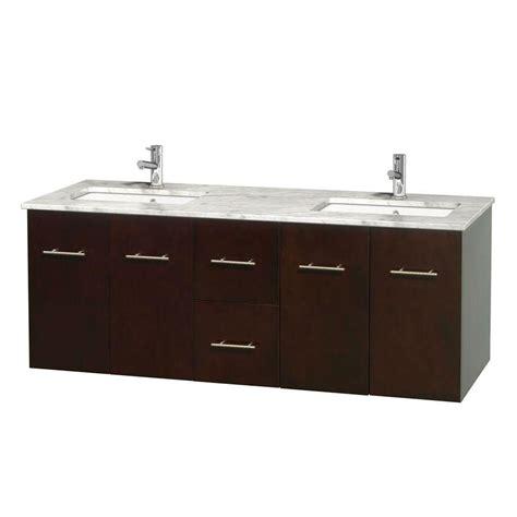 top mount vanity sinks wyndham collection centra 60 in double vanity in