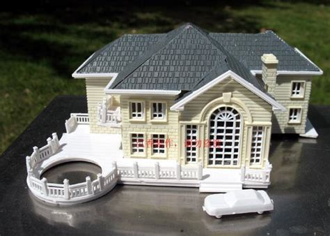 3d home kit design works 3d plastic house kit palace villa model with led light