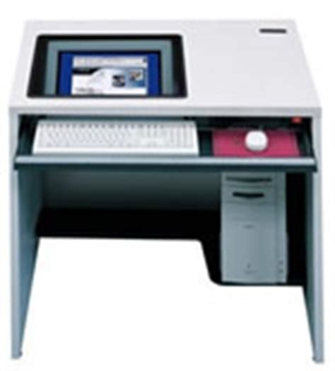 Recessed Monitor Desks For Training Rooms Recessed Monitor Computer Desk