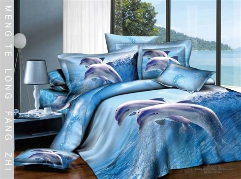 dolphin bed set new 4pc bedding cover set blue dolphin bedding 500tc cotton blue and dolphin comforter