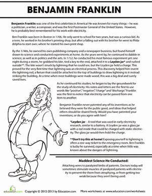 biography of benjamin franklin the scientist 104 best fourth grade images on pinterest fourth grade