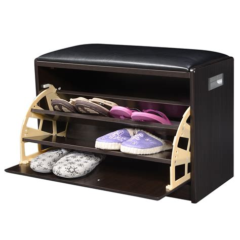 small shoe bench stylish small mudroom shoe storage cabinet with leather