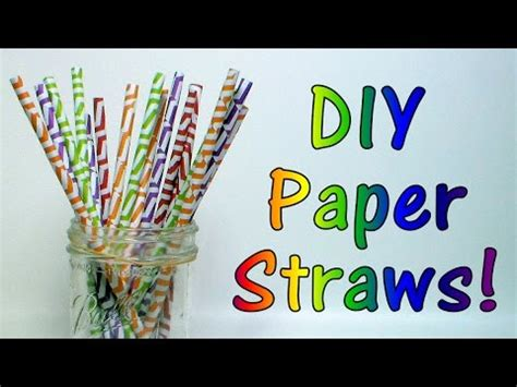 How To Make Paper Straws - how to make paper drink straws that really work
