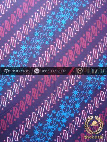 Kain Batik Pekalongan 307 kain batik cap tulis jogja motif parang kelir ungu biru