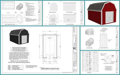 gambrel shed plans shed plans kits
