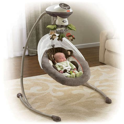 fisher price snug a monkey swing fisher price x7051 my little snugamonkey cradle n swing