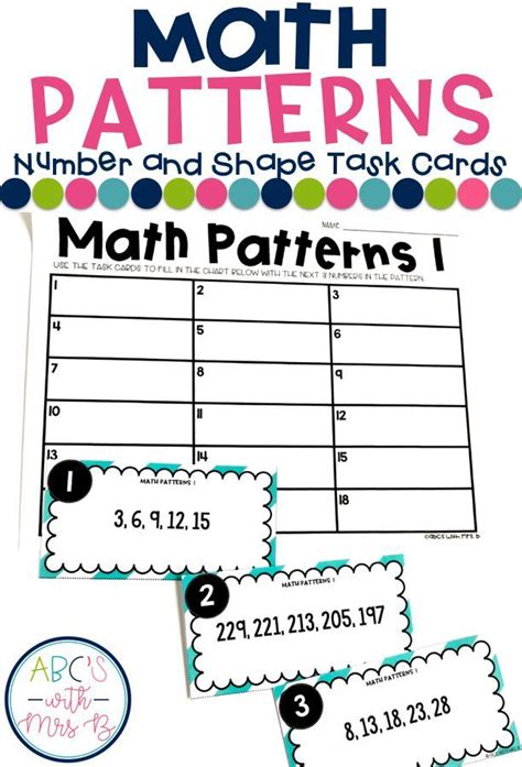 math pattern games grade 6 3654 best images about classroom math on pinterest fact