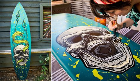 Wave Wall Mural fieldey a surf board artist painting the dream the