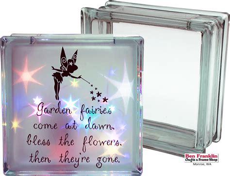 decorative glass blocks with lights ben franklin crafts and frame shop monroe wa diy fairy