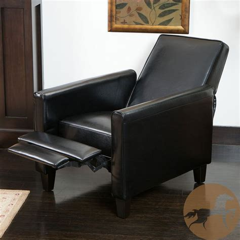 Overstock Leather Recliners by Christopher Home Darvis Black Leather Recliner Club