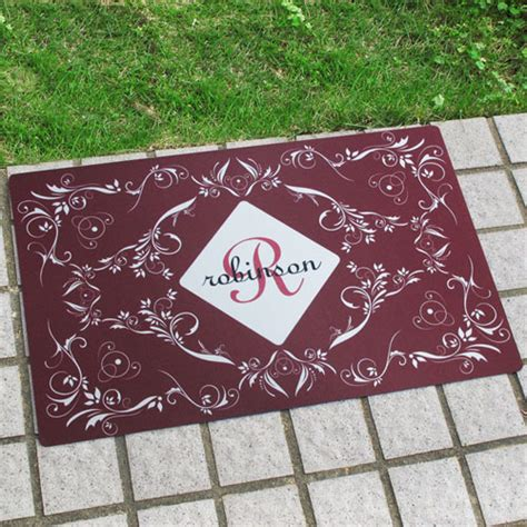 Doormats With Initials by Personalized Initial Doormat For Home Decor