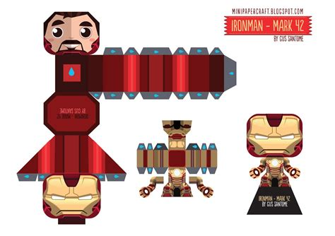 Ironman Papercraft - mini papercraft april 2013