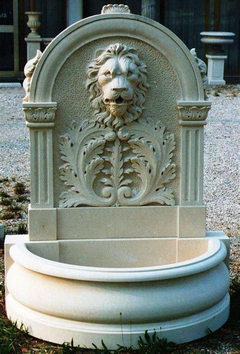 lion head wall fountains tuscan garden wall fountain