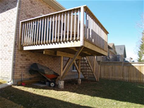 cantilevered deck the business of building decks and fences november 2007