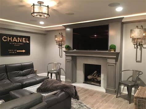 basement lighting for lively space 1000 ideas about basement fireplace on pinterest