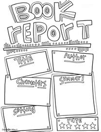 Book Report Ideas For Kids Book Report Printables Classroom Doodles