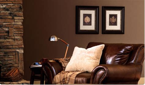 formal living room design with leather sofa and solid brown wall painting ideas pinkax