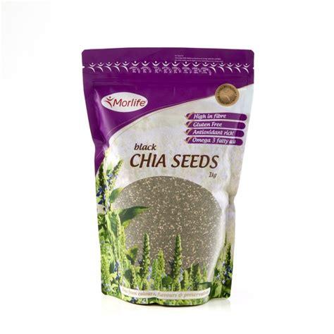 Black Chia Seed 1kg morlife black chia seeds 1kg city health