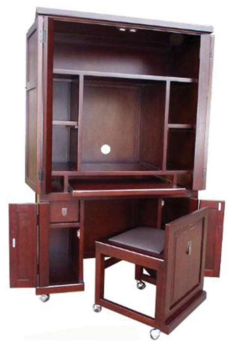 computer armoire with pull out desk d collection home office decorative computer armoire