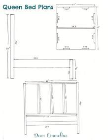 building size bed headboard and dimensions