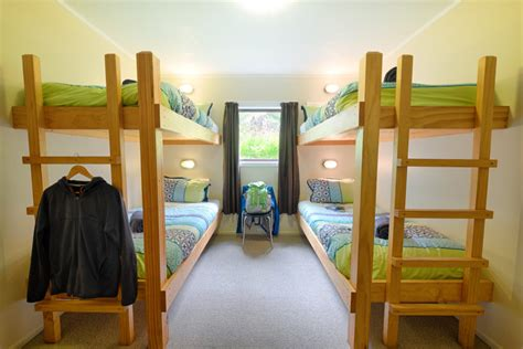 bunk beds for rooms four bed bunk room accommodations hopewell lodge nz