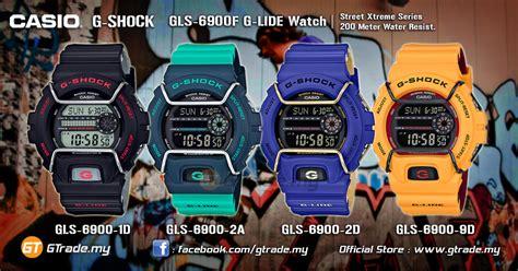 Casio Gshock Original Gls 6900 9dr casio g shock gls 6900 1d digital g lide xtreme sports