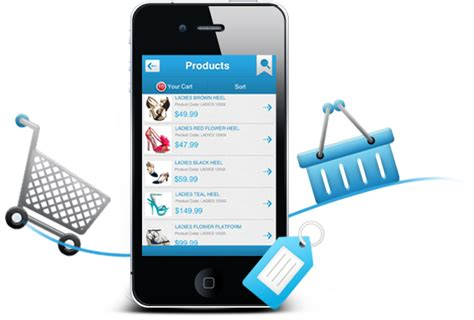 shopping mobile mobile shopping cart png