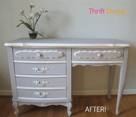 How To Paint Your Old French Provincial Furniture How To Paint A Desk White