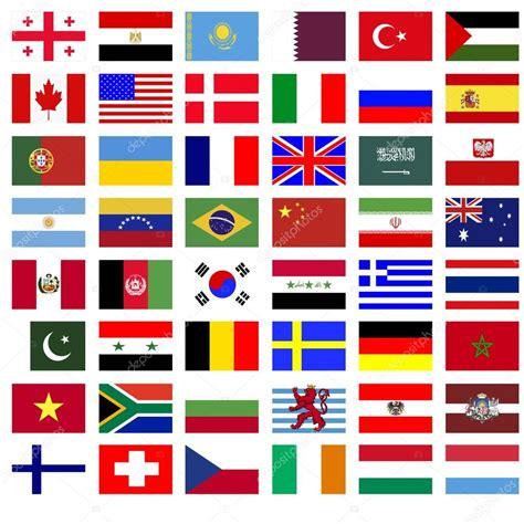 imagenes de banderas de paises collage de las banderas de los pa 237 ses foto de stock
