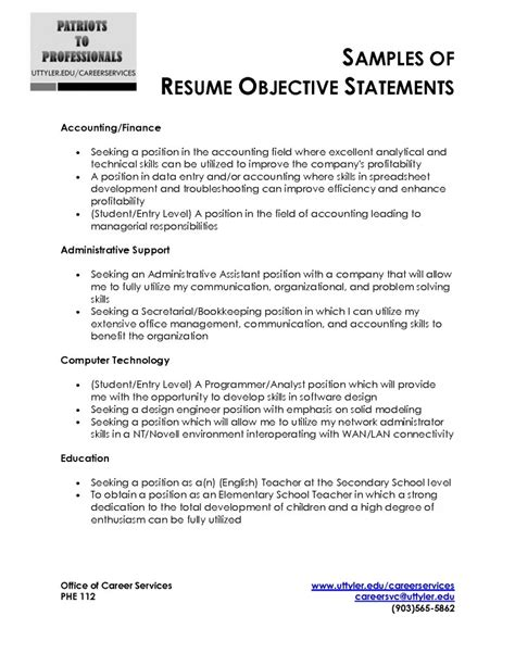 Do You Need Objective On Resume by Sle Resume Objective Statement Free Resume Templates